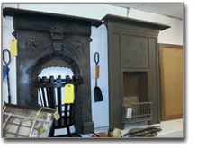 large stock of victorian cast iron antique fireplaces birmingham west midlands